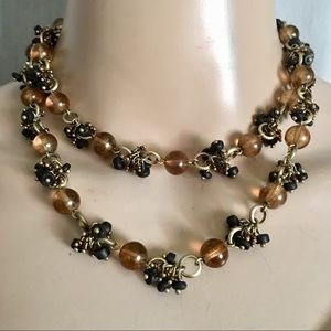 Vintage beaded wrap necklace